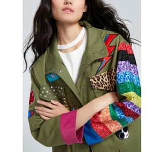 Alice + olivia Russo patchwork oversized parka